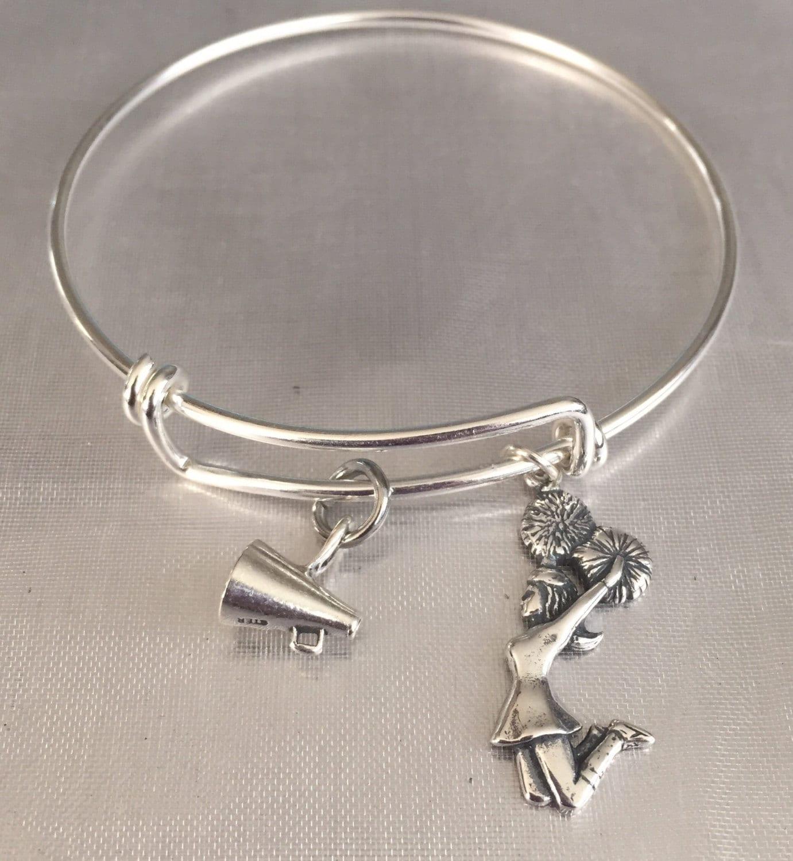 Cheer Charm Bracelets: Cheer Bracelet-sterling Silver Charm And Bracelet