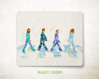 The Beatles, Abbey Road, Band, Prints, Poster, Watercolor Art, Kids Decor, Office Decor, Home Decor, Gifts -P147
