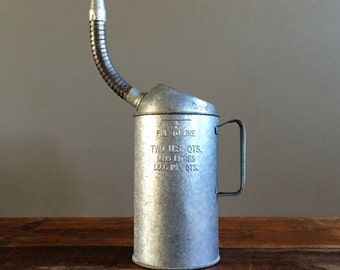 Vintage Oil Can, Two Quart Capacity