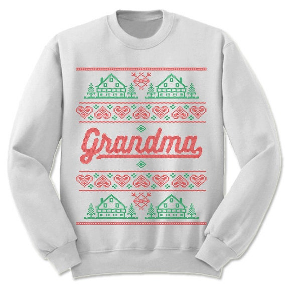 Christmas Gifts for Grandparents. Ugly Christmas Sweaters. Unisex/Adult Sweatshirt. Gift for Grandmother.