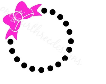 Bow Wreath SVG and JPG Instant Download Files for Silhouette Cameo and Cricut