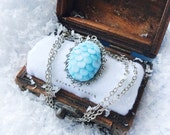 Winter Game of Thrones Jewelry, Dragon Egg Necklace, Dragon Eggs Game of Thrones Eggs, Dragon Necklace Game of Thrones Gift Mermaid Necklace