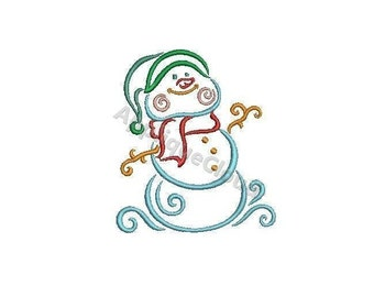 Snowman embroidery design ~ Snowman embroidery pattern ~ INSTANT DOWNLOAD digital file