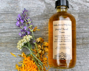 Herbal Facial Toner • Astringent • Skin Care • All Natural • Essential Oils  • Organic Body Care • Vegan