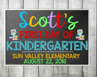First Day of School Sign, Back to school sign, chalkboard back to school sign, Chalkboard First Day of School Sign