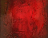 Red Abstract art panel, Mix and Match painting panels. Abstract 150 - Contemporary painting. Original wall art multi panel by Andy Hahn.