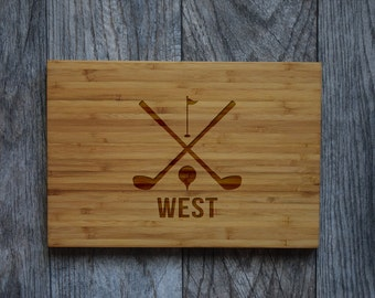 Gift for Golfers, Golf Gift, Gift for Dad, Gift for Husband, Cutting Board, Gift for Wife, Gift for Boyfriend