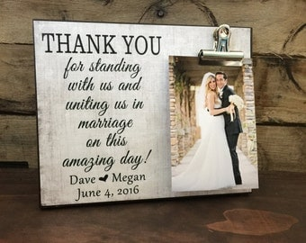 Thank U Wedding Gifts : Wedding Gift, Thank You For Standing With Us and Uniting us in ...