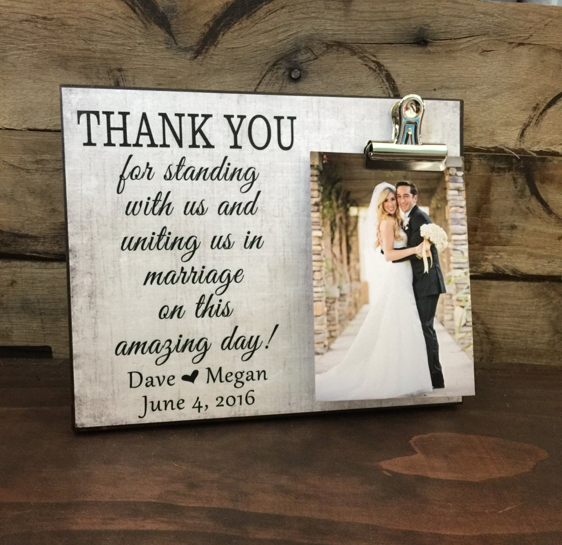 Wedding Gift, Thank You For Standing With Us and Uniting us in ...