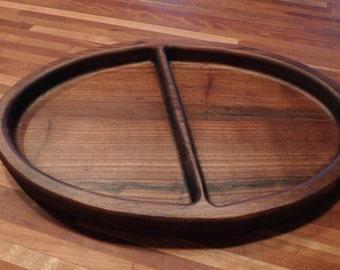 Oval Serving Tray,Walnut Tray,Large Tray