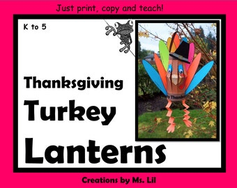 Turkey Craft - Thanksgiving Craft - Thanksgiving Activity - Turkey Lantern