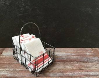 Dollhouse Miniature French kitchen towels