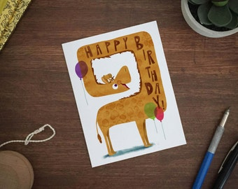 HAPPY BIRTHDAY! Giraffe greeting card