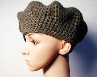 Crochet PATTERN - LISE BERET - Crochet Hat Pattern