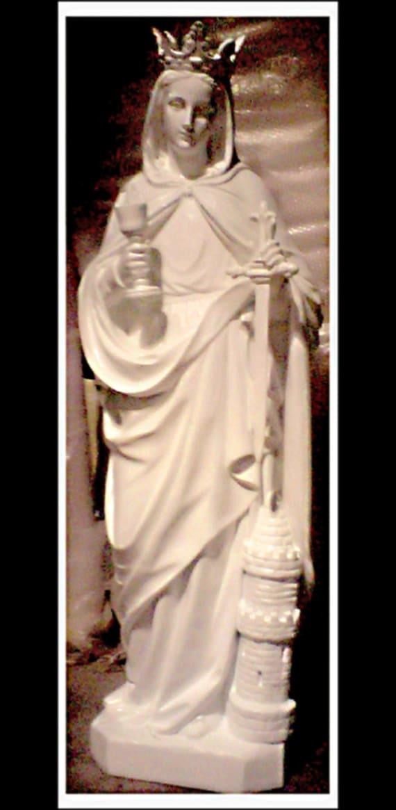 "St. Barbara Fiberglass 60"" Catholic Christian Religious Statue"