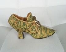 Small Mini shoe,collectible shoe,decorative  shoe, vintage  shoe