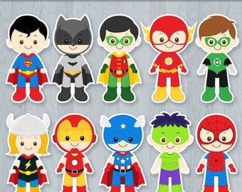 Superhero Centerpiece, Superhero Cake Topper, Superhero Table Centerpiece, Superhero decoration