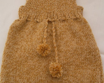 Birch Brown Baby Romper.PDF Knit Pattern for Size 0 to 18 months.