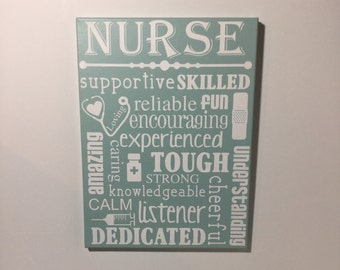 Painted canvas sign - gift for nurse - nurse grad gift - nurse gift - nurse appreciation gift - nursing graduation gift