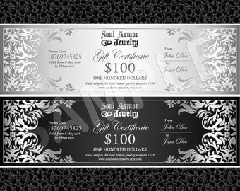 Gift Certificate for Soul Armor Jewelry