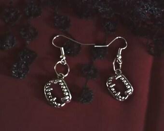 Silver Fang Earrings