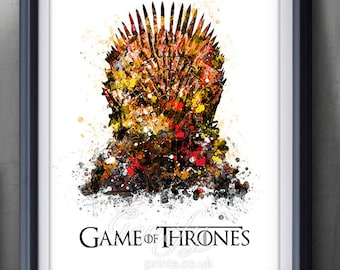 Game Of Thrones Iron Throne Watercolor Art Poster Print Game Of Thrones Art Watercolor Painting