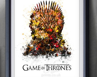 Game of thrones art etsy for Iron throne painting