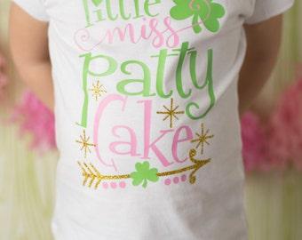 Little Miss Patty Cake Onesie/Shirt - (0-24 months) (2T-12) - St Patricks Day shirt, St Pattys Day Shirt, St Paddys Day Shirt, Irish Shirt