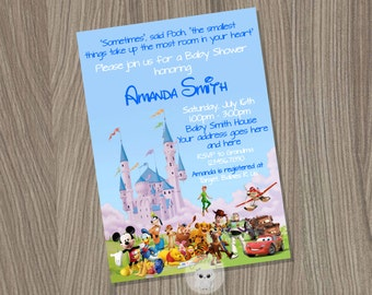 disney baby shower baby boy shower invitation baby shower baby