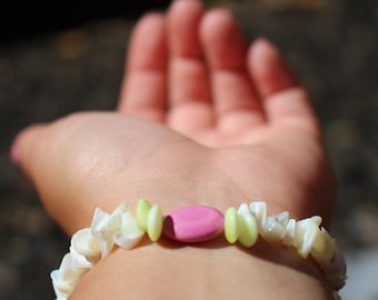Pearl and Pink Beaded Bracelet