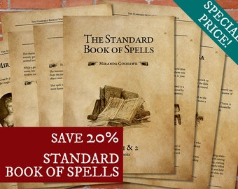 PRINTABLE Standard Book of Spells - COMPLETE EDITION - Harry Potter Print Art Poster Printable Deco Artwork