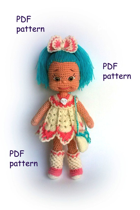 Knitting Patterns For Very Small Dolls : Amigurumi doll pattern Natasha PDF by KnittedToysNatalia ...