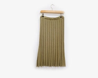 Pleated Knit Accordion Skirt S/M