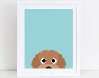 Labradoodle Art Print, Instant Download,  Printable Home Decor, Digital Art Print, Labradoodle Print, Labradoodle Dog Decor, Labradoodle