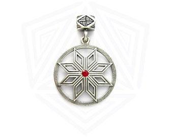 Colgante de Perun. Joyas de Slavic. Estrella de Perun. Talismán pagano vikingo. Joyería de pagano