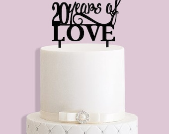20 Years of Love Cake Topper (any number)