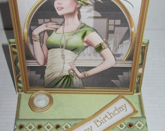 Handmade Art Deco card