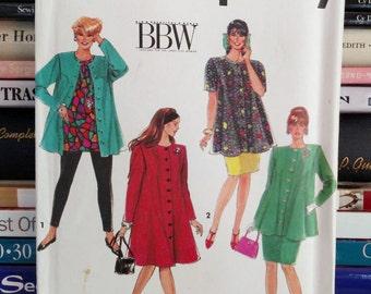 1991-Simplicity BBW Pattern # 7634-Women's Dress or Tunic, Skirt and Leggings-Size-18W-24W-UNCUT