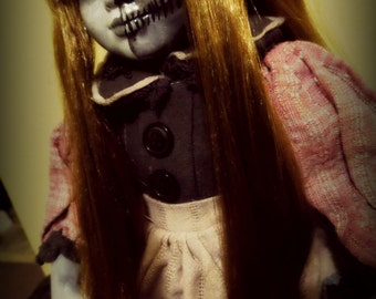 OOAK-Gothic-Zombie-Undead-Vampire-Creepy-Hand-Painted-Porcelain-Doll-Abagail