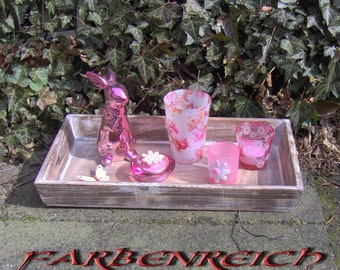 "Table decorations: ""pink rabbit"""
