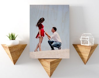 Wood Anniversary, Wood Photo Transfer, Personalized Photo Gifts For Him, Custom Anniversary Gift, Picture On Wood, Wedding Gift