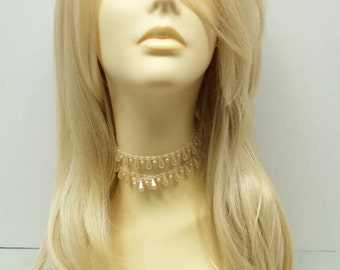 Long 23 inch Blonde 613 Straight Wig. Heat Resistant Wig. Boho Wig
