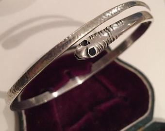 Victorian Silver Snake bracelet, divine piece
