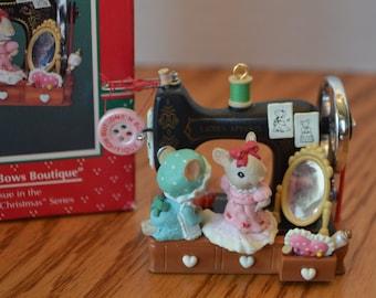 1994 Enesco Buttons N Bows Boutique Ornament