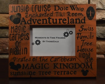 Disney World Adventureland Typography Frame
