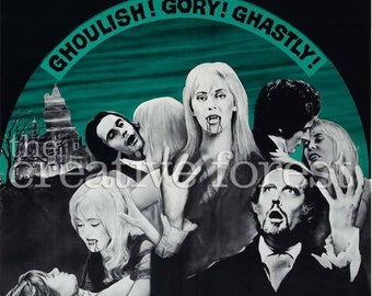 Lust For A Vampire, Vintage Horror Movie Poster Reproduction Rolled CANVAS PRINT 24x31 in.