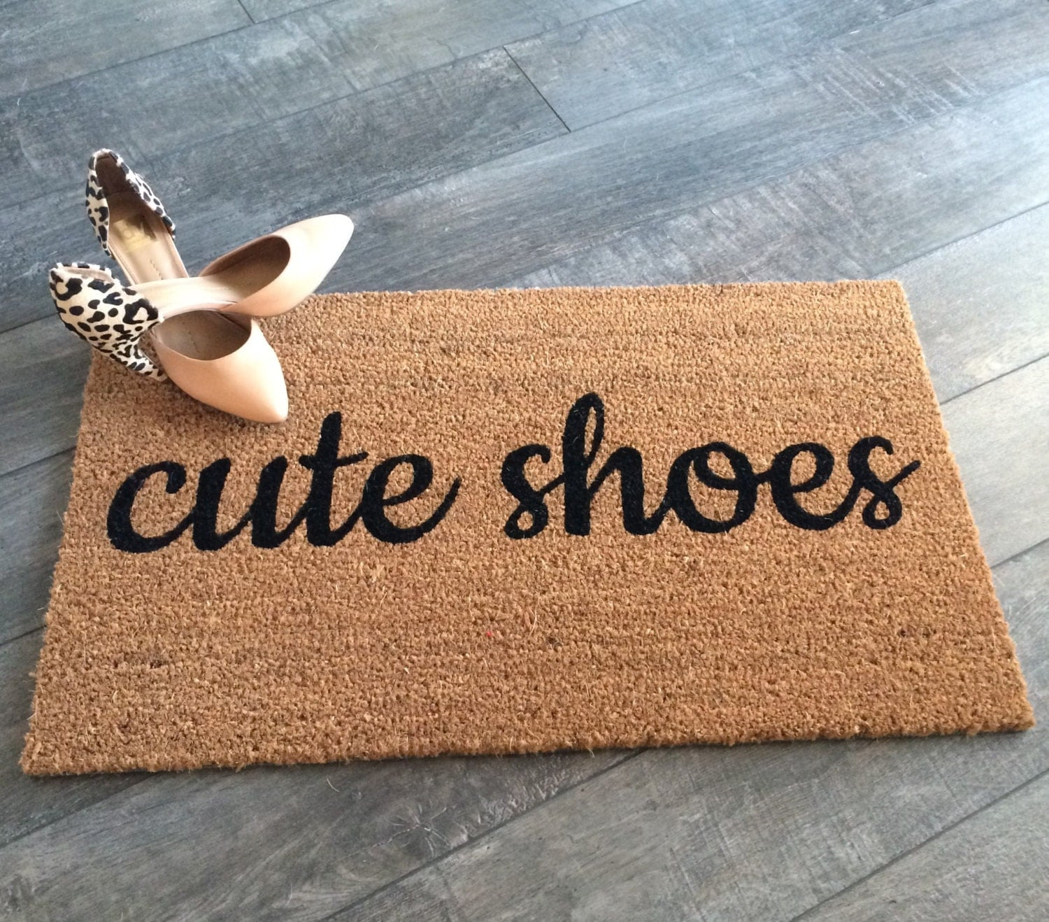 Cute Shoes Doormat Hand Painted Outdoor Welcome Mat Cute