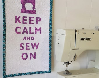 Keep Calm and Sew On Wall Art
