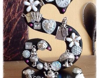 Alice in Wonderland,  Alice in Wonderland Gift, Birthday Gift, Personalised Gift, Christmas, Freestanding Initial letter