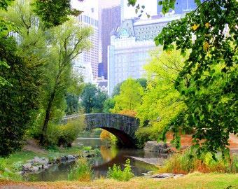 Central Park Bridge Wrapped Canvas Photograph | New York Photography | Home Decor | Central Park Photography | Bridge Photography | New York